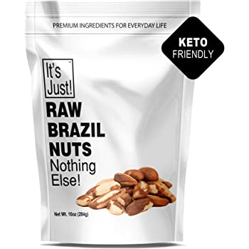 It's Just - Raw Brazil Nuts, Nothing Else, No PPO, Unsalted, Large Premium, Superior To Organic (10oz)