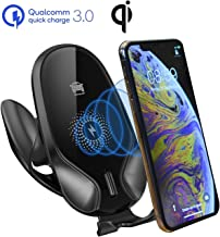 Wireless Car Fast Charger with Car Holder,10W 7.5W 5W Qi Fast Charging Gravity Auto-Clamping Car Mount, Air Vent Phone Holder Compatible iPhone 11/11 Pro Max/Xs MAX/XS/X/8/,Samsung S10/S9/S8