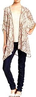 Women's Print Kimono Lace Tunic Top Size Medium