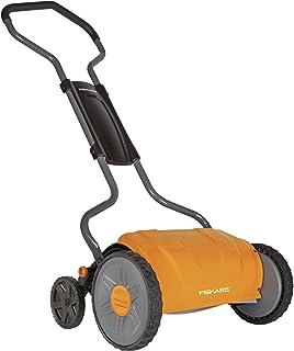 Fiskars 17 Inch Staysharp Push Reel Lawn Mower (6208), Orange