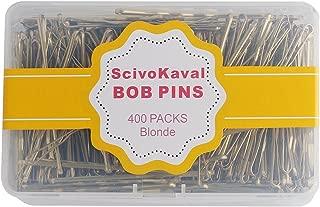 ScivoKaval Bobby Pins Bulk Champagne Gold for Blonde 400 Count Hair Bob Pins Bulk in a Case Box Tub