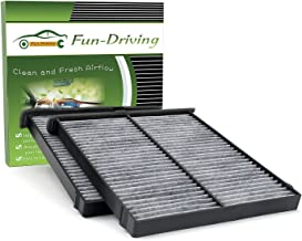 2 Pack, Cabin Air Filter for Mazda 3/6/CX-5, With Activated Carbon from Bamboo Charcoal, Replacement for KD45-61-J6X,KR11-61-J6X,MP11-1K-D451 and CF11811