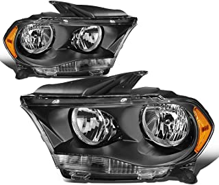 For Durango Pair Black Housing Amber Side Headlight/Lamps Left+Right
