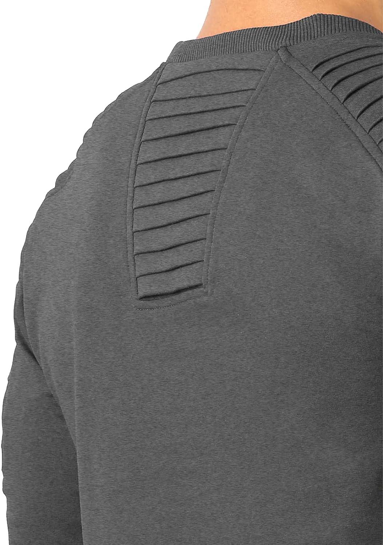 Angbater Men's Casual Long T-Shirt Ultra Cotton Crewneck Long Sleeve tee