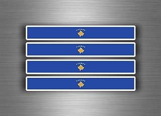 Akachafactory 4/x selbstklebend Sticker Auto Moto Stripes Flagge Tuning Kosovo