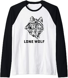 Lone Wolf Tribal Northern Men Women Boys Kids Raglan Baseball Tee