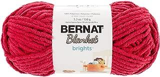 Bernat Blanket Brights Yarn, 5.3 oz, Race Car Red, 1 Ball