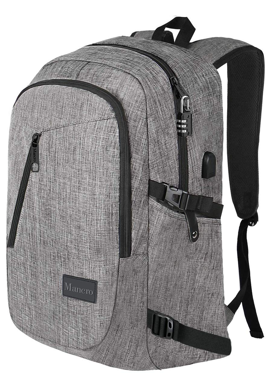 Backpack Charging Resistant Mancro Lightweight
