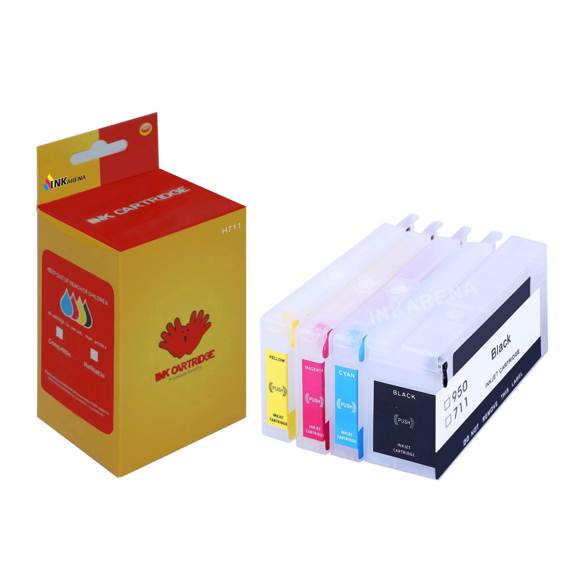 inkarena – Kit de repuesto de tinta vacíos y rellenables para HP711 puede trabajar para HP 711 XL Set de cartuchos de impresora, para HP DesignJet T120 T520: Amazon.es: Oficina y papelería