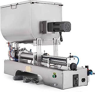 Happybuy 100-1000ML Sauce Filling Machine 110V Paste Filling Machine with Mixing Hopper Sauce Filling Mixing Machine for Filling Liquid and Paste