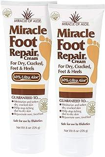 2-Pack Miracle Foot Repair Cream 8 Ounce Tube with 60% UltraAloe