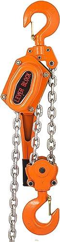 2021 Mophorn 6 Ton Lever Block Chain Hoist 10ft 3M Chain Hoist wholesale Alloy Steel G80 Chain Ratchet Lever Hoist with outlet sale Hook (6 Ton 10 Ft) sale