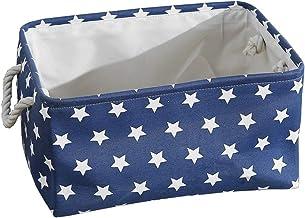 CNYG Paniers de Rangement, Boîte de Rangement Pratique Tiroir en Tissu Panier Stockage de Bureau Pliable Organisateur pour...