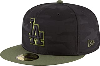 New Era Los Angeles Dodgers 2018 Memorial Day On-Field 59FIFTY Fitted Hat – Black/Olive