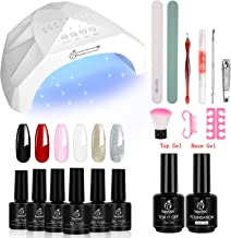 Beetles Gel Nail Polish Starter Kit with UV Light 48W LED Nail Lamp 6 Colors Gel Polish..