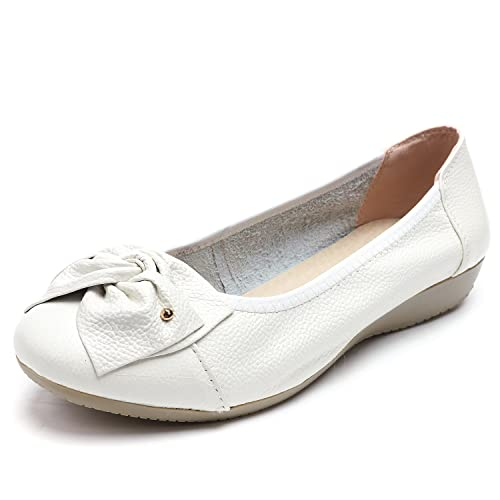 99a67f80eab ODEMA Women s Leather Loafers Shoes Moccasins Wild Driving Casual Flats