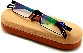Featherweight Slim Half Rim Memory Flex Reading Glasses With Anti-reflective AR Coating