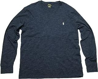 Mens Long Sleeve Crew Neck T-Shirt Pocket Classic Fit