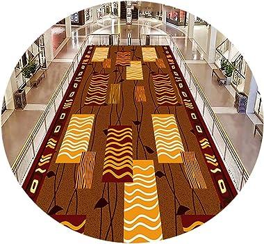 YANZHEN Hallway Runner Rugs Corridor Non-Slip Soft Wear Resistant Blended Fabric, Width 80/90/100/120/140 / 160cm (Color : Mu