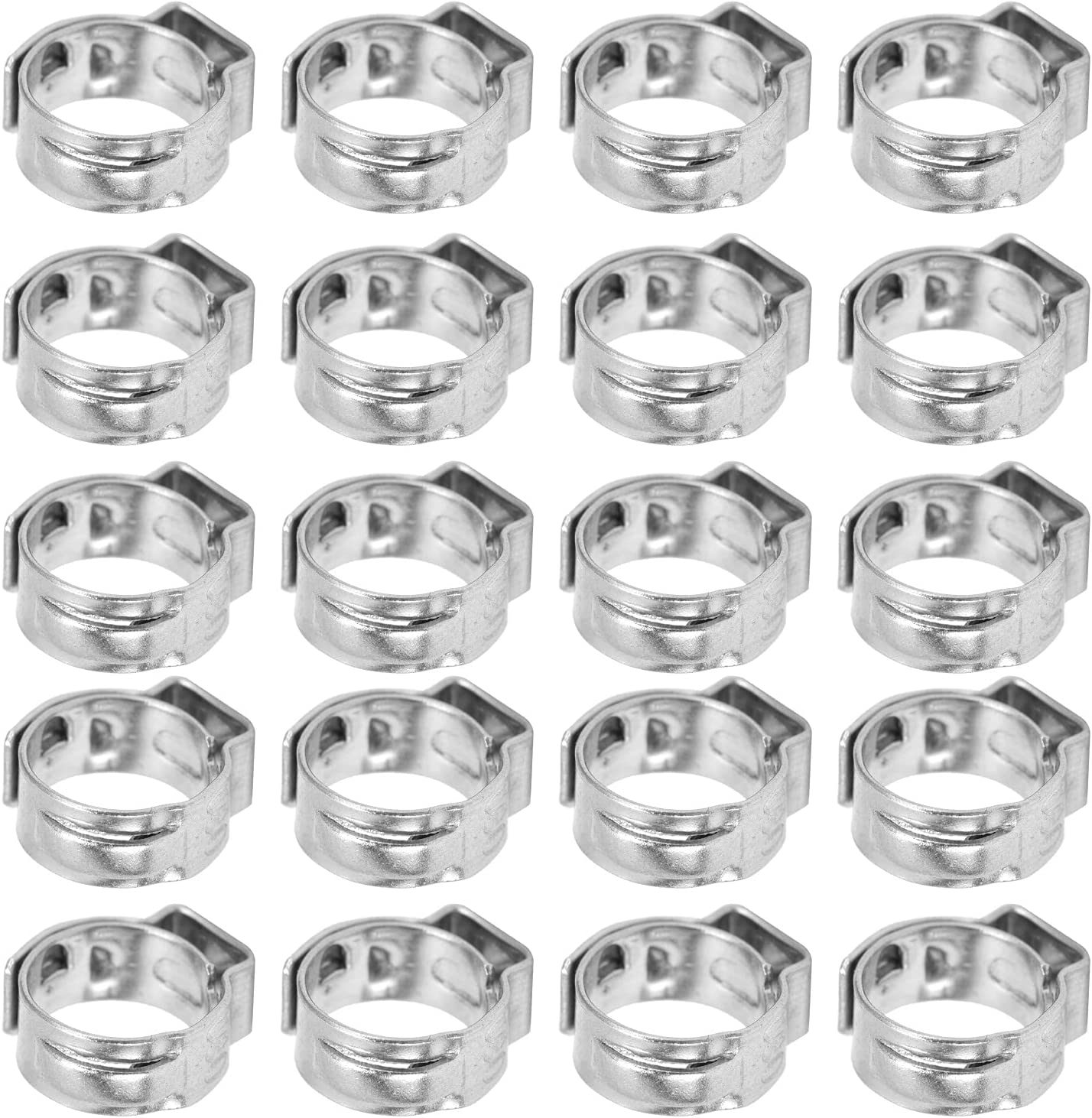 20Pcs Hose Clamp Max 43% OFF 304 At the price Stainless Hos Double Steel Adjustable Wire