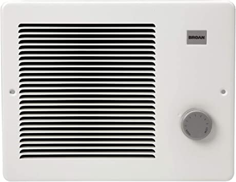Broan-NuTone 174 Painted Grille Wall Heater, 750/1500 Watt 120 VAC, White Enamel Steel: image