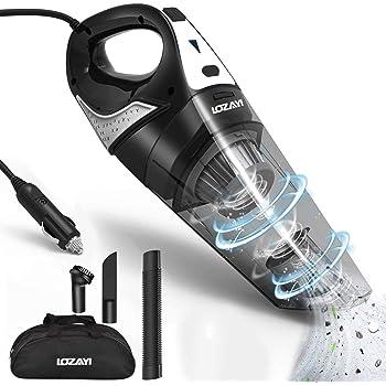 Aspirador de Coche, LOZAYI 6000Pa Aspiradora de Coche Portátil con Cable de 5M, Aspiradora Mano de Sólidas y Líquidas con Filtro de Acero Inoxidable, Succión Potente, Bajo nivel de ruido,3 Cepillos: Amazon.es: