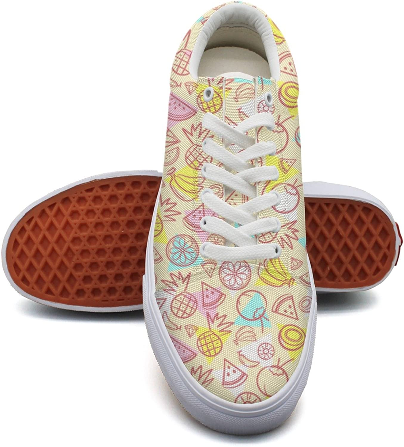 Feenfling Healthiest Fruits Diet Womens Printed Canvas shoes Low Top Best Sneakers shoes for Women