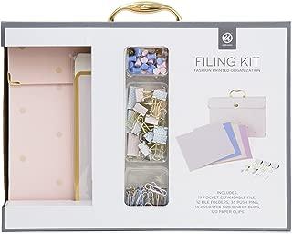 U Brands Expandable File Folder Organizer, Fashion File Folders, Office Accessory Value Pack, Pink