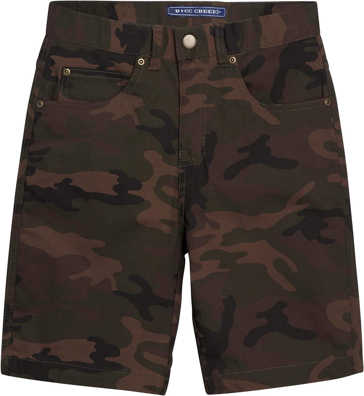 Bass Creek Outfitters Boys' Cargo Shorts - Twill Duck Canvas Carpenter Shorts