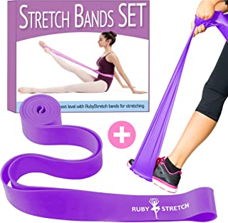 Stretch Bands Set, 2 Stretching Bands for Dance and Ballet, 2 Sizes and 3 Colors Resistance Bands to Improve Flexibility, Splits and Strength – Gift Box, Instructions Booklet