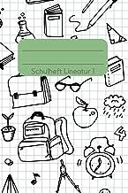 Schulheft Lineatur 1: ein schönes Schulheft für den Schulbeginn - Schönes Cover-Design für Schüler - Tolle Geschenkidee zur Einschulung, 100 linierte Seiten im A5 Format (Lineatur 1) (German Edition)