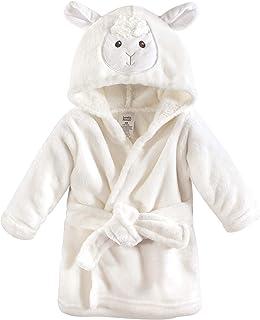 Luvable Friends Unisex Baby Plush Bathrobe, Lamb, 0-9M