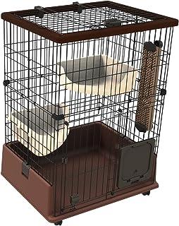 ペティオ (Petio) ネココ 仔猫からのしつけにもぴったりな キャットルームサークル 2段タイプ ブラウン