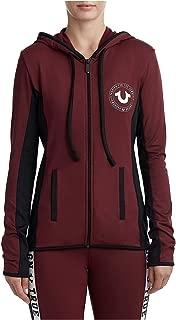 True Religion Women's Athletic Runner Zip Up Hoodie Sweatshirt