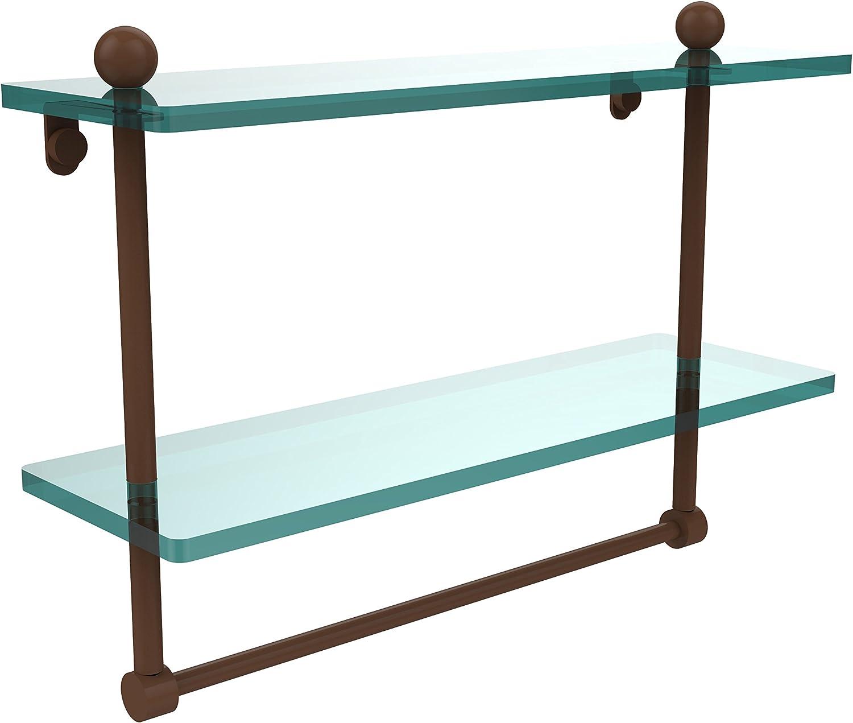 Allied Brass PR-2 16TB-ABZ 16-Inch by 5-Inch Double Glass Shelf