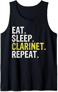 Eat Sleep Clarinet Repeat Music Gift Tank Top