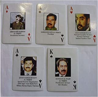 Online Discounts Gifts Iraqi's Most Wanted Playing Cards Iraq War Saddam Sealed