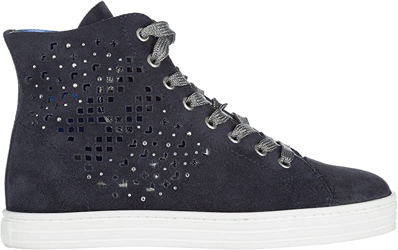 Hogan Rebel Sneakers Alte r182 Donna Blu 35 EU : Amazon.it: Moda