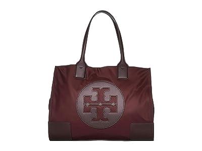 Tory Burch Ella Mini Tote (Port) Handbags