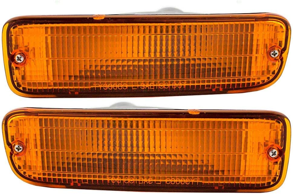New Replacement for OE Turn Signal Light fits 95-2000 Toyota Tacoma Plastic Lens Left /& Right Set of 2