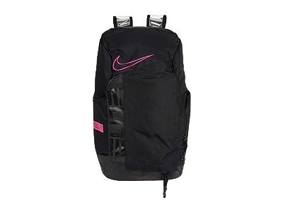 Nike Hoops Elite Pro Backpack (Black/Black/Vivid Pink) Backpack Bags