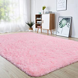 junovo Ultra Soft Area Rugs 4 x 5.3ft Fluffy Carpets for Bedroom Kids Girls Boys Baby..