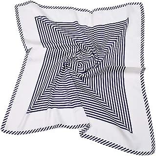 Head Scarf for Women Square Scarves Silk Like Neckerchief The Twins Dream 70x70