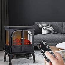 DHYBDZ Calentador de Chimenea eléctrico con Control Remoto, Calentadores eléctricos con Temporizador para el hogar para Habitaciones Grandes, Estufa de Chimenea infrarroja Independiente