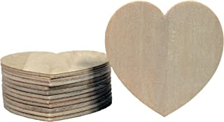 Creative Hobbies Unfinished Wood Heart Cutout Shapes, Ready to Paint or Decorate, 3.5 Inch Wide, Pack of 12