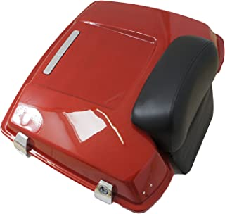 Scarlet Red Premium Razor Tour Pak for Harley Touring with Chopped Backrest