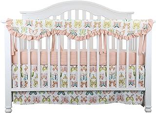 Sahaler Crib Rail Cover, Floral Crib Protector from Chewing, Crib Rail Teething Guard, Crib Wrap for Nursery Baby Crib - Butterfly