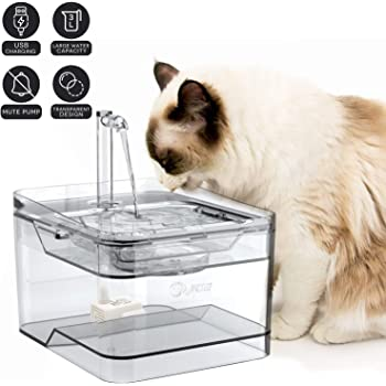 petnf 2020 Newest Upgraded Cat Fountain for Pet 100oz/3L,Dog Cat Water Fountain,Automatic Drinking Fountain,Dog Water Dispenser,Ultra Quiet, Adjustable Water Flow,Activated Carbon