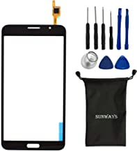 sunways Touch Glass Lens Screen Replacement for Samsung Galaxy Mega 2 SM-G750 G750F G750A G750H with Device Opening Tools(Black)