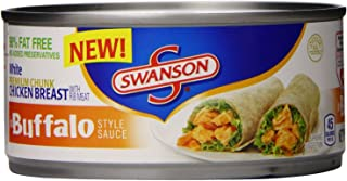 Swanson Buffalo Style Grilled Premium White Chicken Breast With Rib Meat (3 Pack) 9.75 oz Cans
